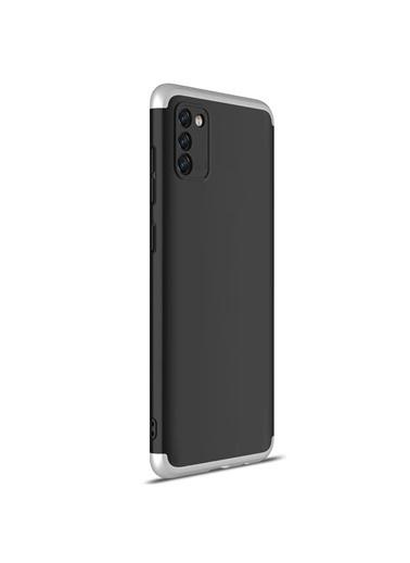 Microsonic Samsung Galaxy S20 Fe Kılıf Double Dip 360 Protective Siyah Gri Siyah